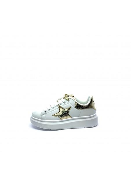 Shop art - SA050111 Sneakers Off white/gold/nero