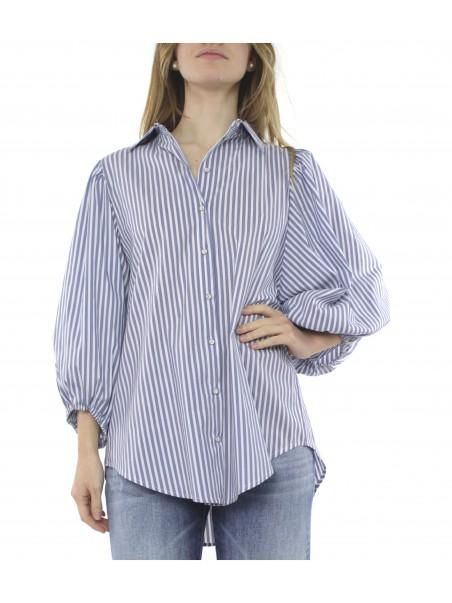Eight by access fashion - 7011-812 Camicia Bianco/celeste