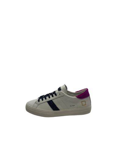 D.a.t.e. - W341-HL-PN-WF Sneakers White/fuxia
