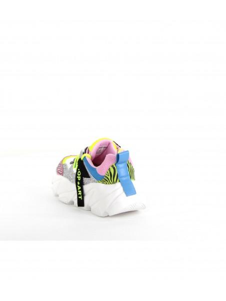 Shop art - SA050144 Sneakers Silver/rosa zebrato