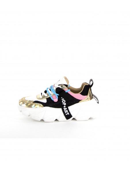 Shop art - SA050142 Sneakers White/nero/rosa
