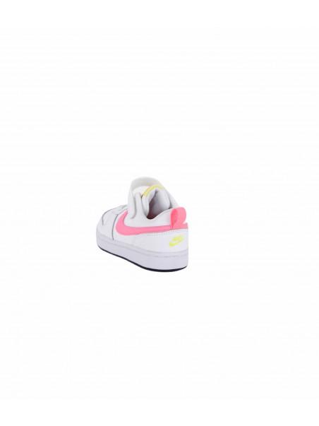 Nike junior - BQ5451 COURT Sneakers junior Bianco/fuxia