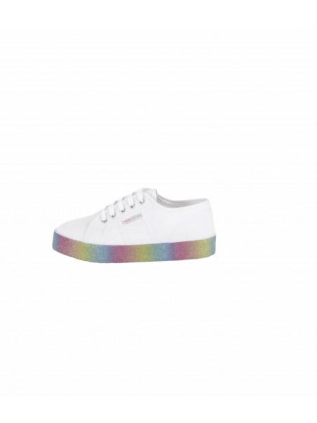 Superga junior - S81161W PLATFORM Sneakers junior White/rainbow